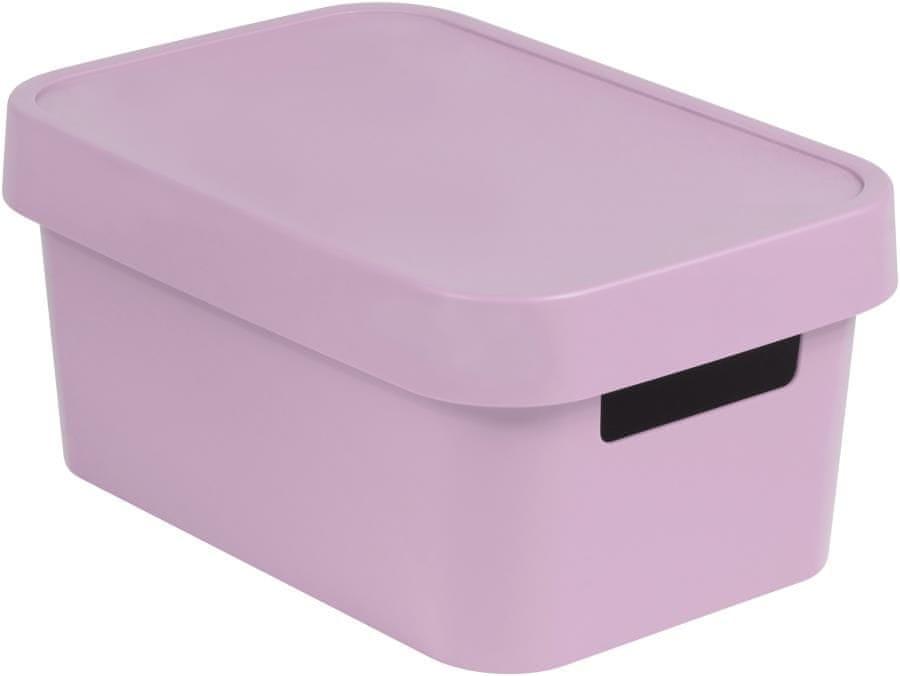 Curver úložný box INFINITY 4,5l s víkem růžový