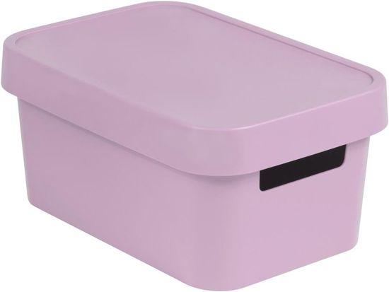 Curver Infinity škatla za shranjevanje s pokrovom, roza, 4,5 l