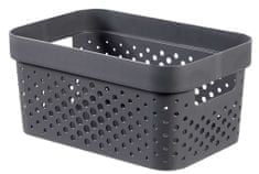 Curver Infinity škatla za shranjevanje, reciklirana plastika, 4.5 l, temno siva