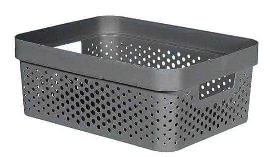 CURVER pudełko INFINITY 11 l recyklingowane tworzywo sztuczne ciemnoszare