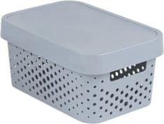 CURVER pudełko INFINITY 4,5l z pokrywą w szare kropki