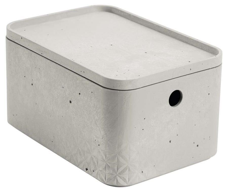 Curver úložný box beton S s víkem