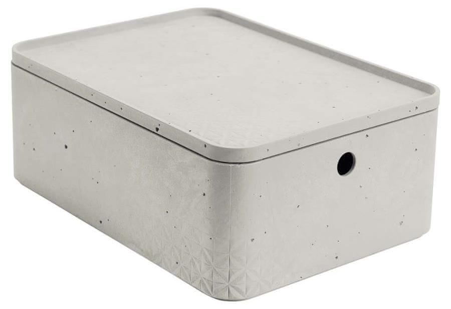 Curver úložný box beton M s víkem