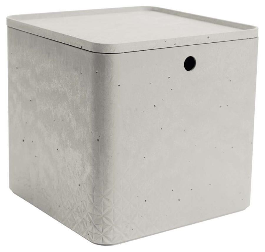 Curver úložný box beton XL s víkem