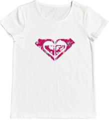 Roxy Endlessprint C ERGZT03571-WBK0 dekliška majica, M, bela