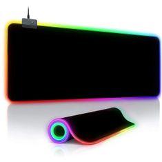 MG herná podložka pod myš, RGB LED, 78x30 cm, čierna