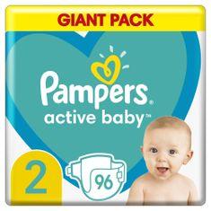 Pampers Active Baby Plenky Velikost 2 96 ks, 4kg - 8kg