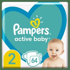 Pampers Active Baby Plienky Veľkosť 2 64 ks, 4kg - 8kg