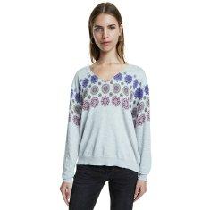 Desigual Ženski pulover Jers Kerala Gris Vigore Claro 20SWJF97 2042 (Velikost S)