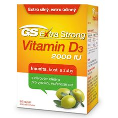 GreenSwan GS Extra Strong Vitamin D3 2000 IU 90 kapslí