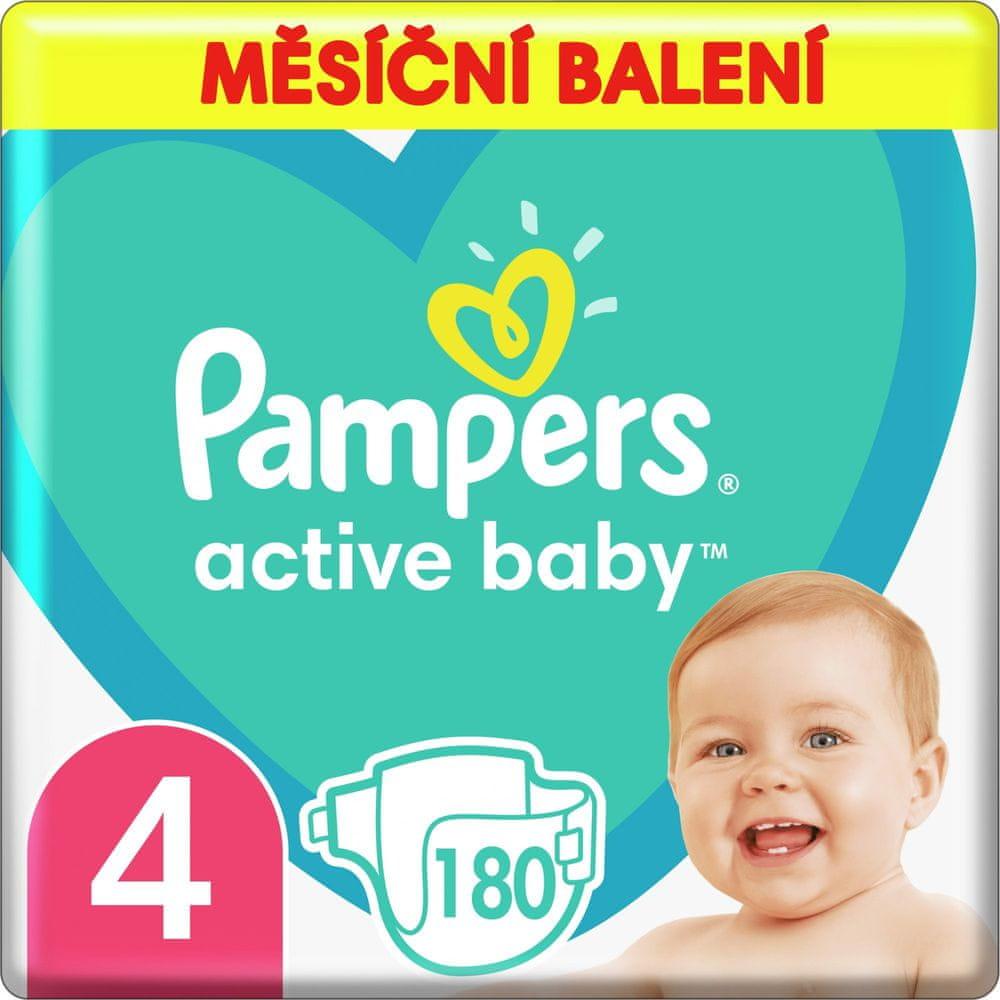 Pampers Active Baby Plenky Velikost 4 180 ks, 9kg-14kg