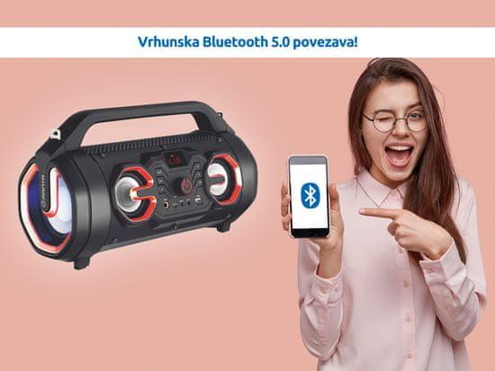 Manta Boombox SPK206 Bluetooth 5.0 zvočnik, baterija, 18W, daljinec