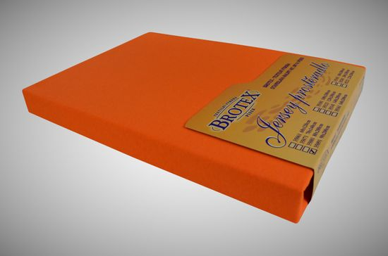Brotex Jersey prestieradlo oranžové, Výběr rozměru 160x200