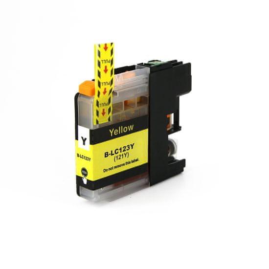 Miroluk Atramentová náplň pre Brother MFC J 4710 DW kompatibilná (žltá - yellow)