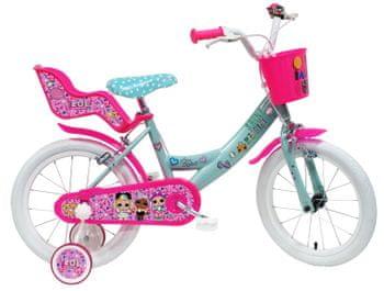 Pre dievčatká tu máme ružový dievčenský bicykel Dino Bikes 12, ktoý má navyše sedačku pre obľúbenú bábiku.