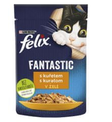 Felix Fantastic s kuřetem v želé 26 x 85 g