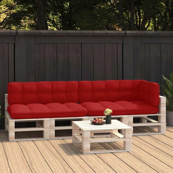 shumee blazine za kavč za palete 5 kosov rdeča