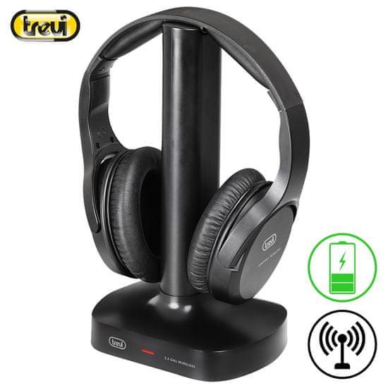 Trevi FRS 1480 R brezžične TV slušalke, črne