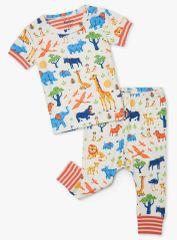 Hatley chlapecké pyžamo z organické bavlny Wild Safari S21SSI1254 56 - 58 smetanová