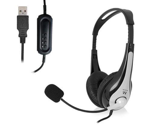 Ewent EW3565 slušalke, USB, mikrofon