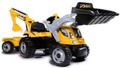 Smoby pedalni traktor z bagerjem in tovornjakom Builder Max