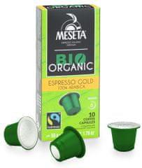 Meseta BIO Organic Espresso Gold 100% arabica 100 ks Nespresso®* kompatibilní kapsle