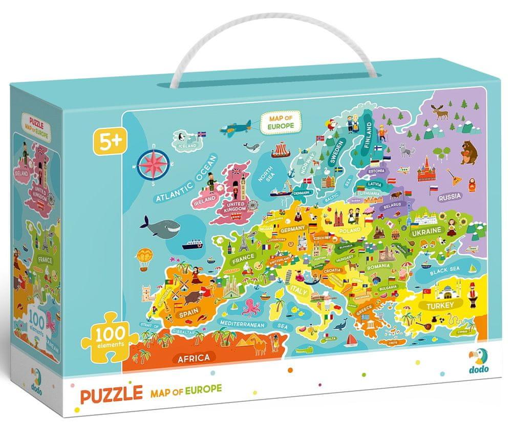 Dodo Toys Puzzle Mapa Evropy 100 dílků