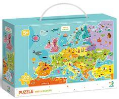 Dodo Toys sestavljanka Zemljevid Evrope, 100 delov