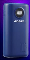 A-Data prenosna baterija Powerbank 10.000 mAh AP10000QCD-DGT-CDB, modra