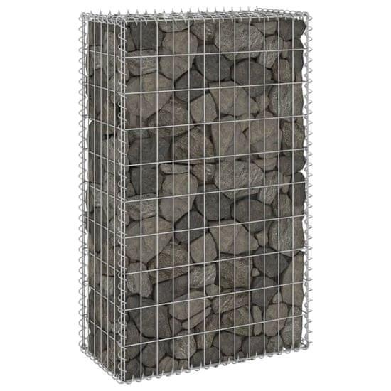 shumee Gabionska stena s pokrovi iz pocinkanega jekla 60x30x100 cm