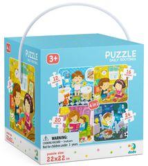 Dodo Toys sestavljanka Puzzle 4v1 Moj dan