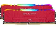 Crucial Ballistix Red RGB pomnilnik (RAM), DDR4 32 GB (2x 16 GB), 3200 MT/s, CL16 (BL2K16G32C16U4RL)
