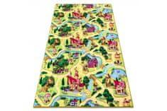Vopi Detský kusový koberec Pohádková vesnice 133x165