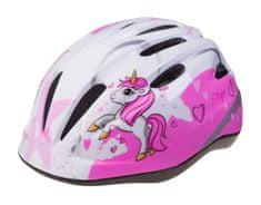 Etape otroška kolesarska čelada Rebel, bela/roza, XS/S