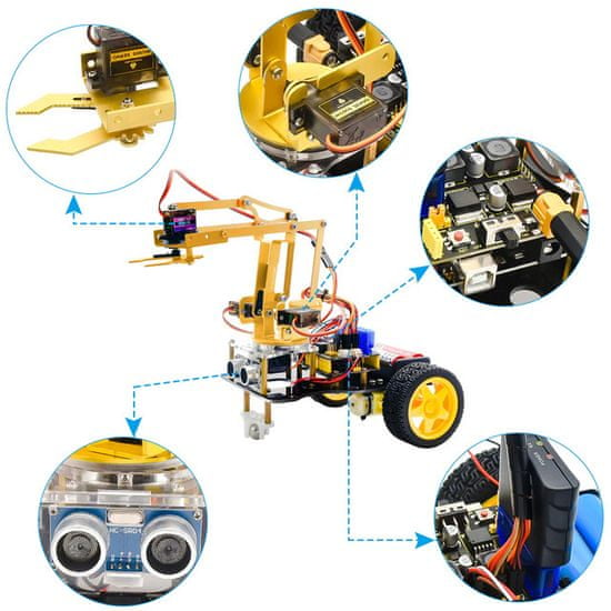 Keyestudio Keyes Arduino 4DOF robotická paže Learning Kit
