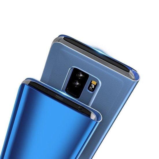 MG Smart Clear View usnjeni ovitek za Samsung Galaxy S7 Edge, črna