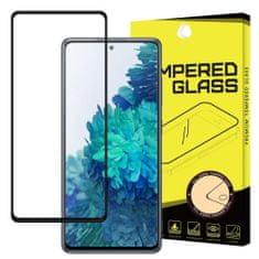 Full Glue Super Tough zaščitno steklo za Samsung Galaxy A72, črna