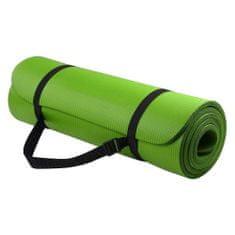 MG Gymnastic Yoga Premium protišmyková podložka na cvičenie 10mm + obal, zelená