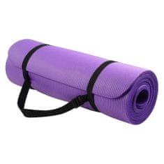 MG Gymnastic Yoga Premium protišmyková podložka na cvičenie 10mm + obal, fialová