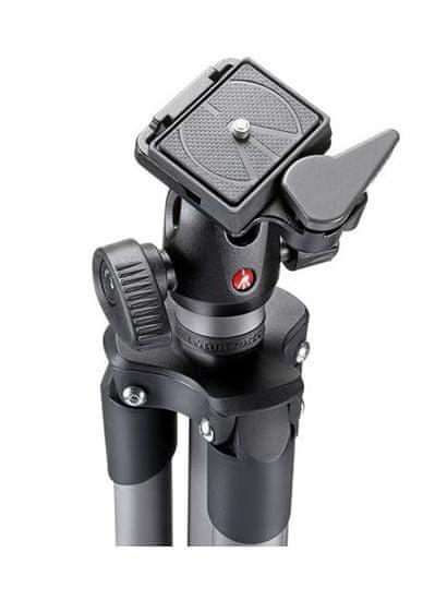 """Manfrotto Compact Advanced aluminijasto stojalo z krogljično glavo, črn (MKCOMPACTADVBH) + GRATIS nosilec za telefon """"MCLAMP"""" - POŠKODOVANA EMBALAŽA!"""