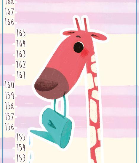 GEKONKY Samolepící nástěnný dětský metr: Žirafa Agáta