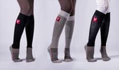 VETOFLEX Sportovní podkolenky s kompresí VETOFLEX RIDER Classic Silver Socks, vel. 35 - 38, černá, S