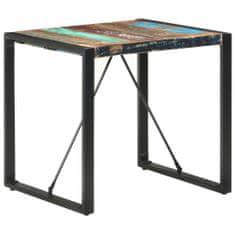 shumee Jedálenský stôl 80x80x75 cm, recyklovaný masív