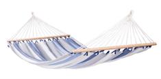 La Siesta Alisio viseča mreža s prečko, Double, svetlo modro-bela