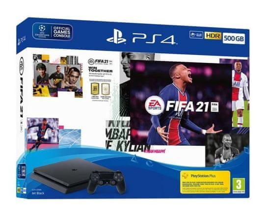 Sony 4 Slim igralna konzola, 500 GB + FIFA 21