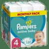 Pampers Active Baby Pelenka, 4-es méret, 180 db, 9kg-14kg