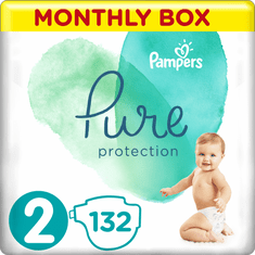 Pampers Pure Protection Pelenka, 2-es méret, 132 db, 4-8 kg