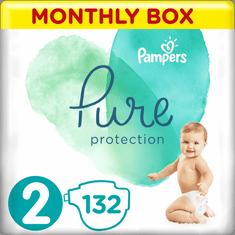 Pampers Pure Protection Plienky, Veľkosť 2, 132 ks, 4-8 kg