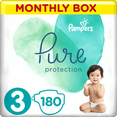 Pampers Pure Protection Pelenka, 3-es méret, 180 db, 6-10 kg