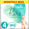 Pampers Pure Protection plenice, vel. 4, 9–14 kg, 160 kosov